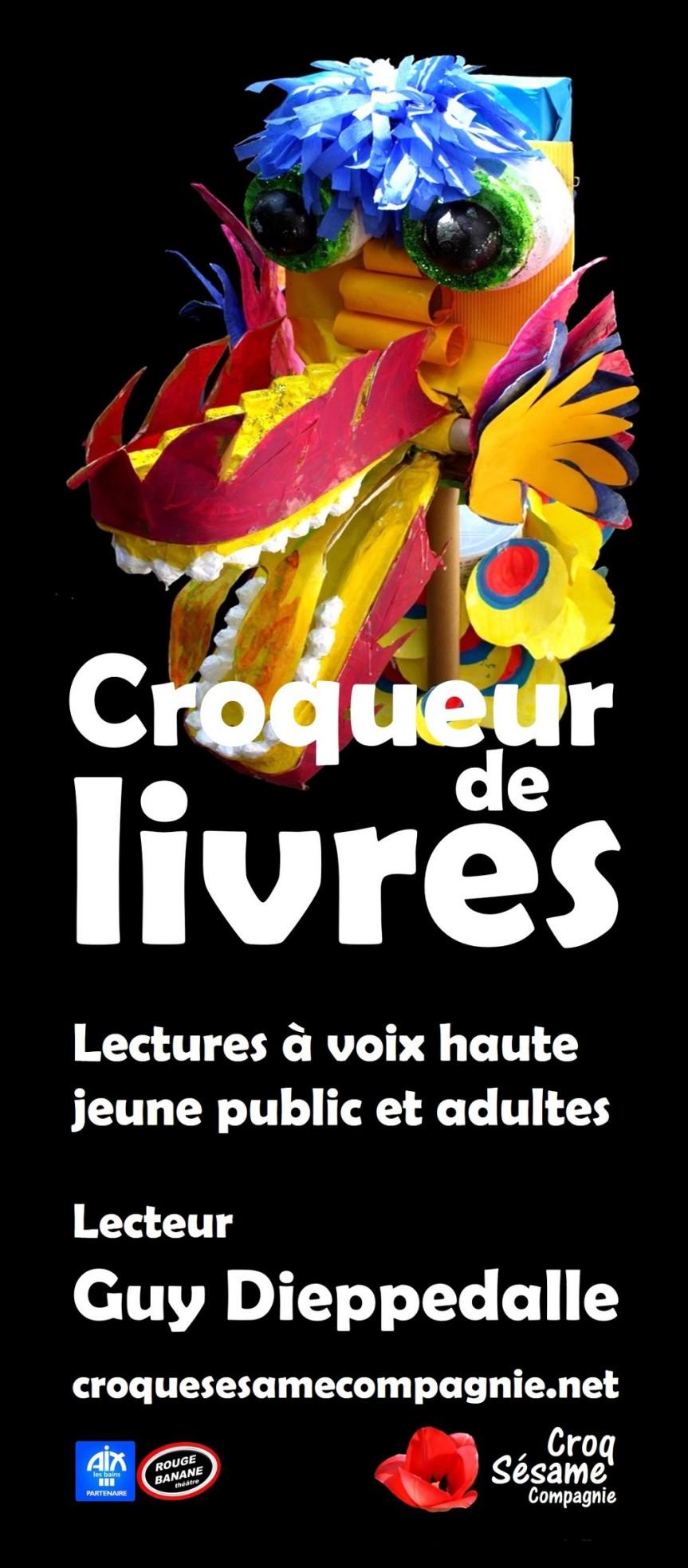 Croqueur de livres. Une passion : lire en public pour les enfants et lesadultes.